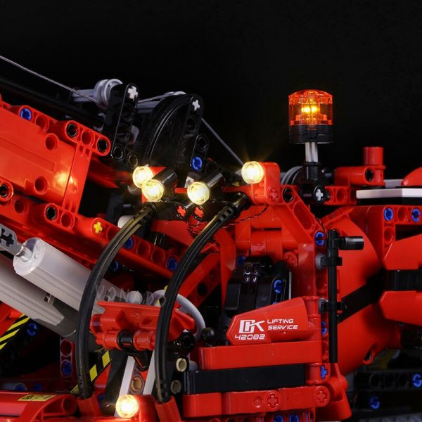 Led light for LEGO Mechanical Group 42082 Complex Terrain Crane LEGO Technic series Boy and girl 3 - Bricks Delight