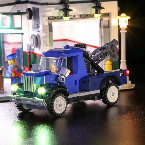 Led light for LEGO2019 new street series 10264 street corner car repair station building blocks assembled 1 - Bricks Delight