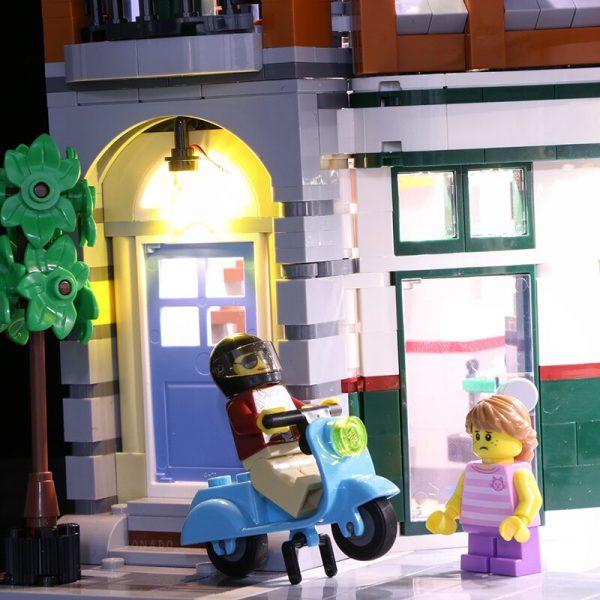 Led light for LEGO2019 new street series 10264 street corner car repair station building blocks assembled 2 - Bricks Delight