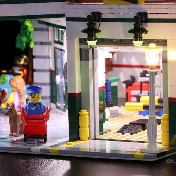 Led light for LEGO2019 new street series 10264 street corner car repair station building blocks assembled - Bricks Delight