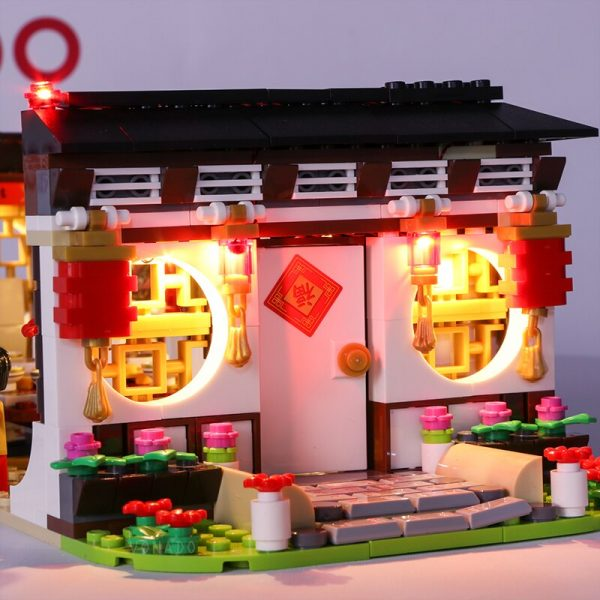 Led light for Lego80101 Chinese series2019New Year s dinner Dragon dance Model Building Kits Block Brick 2 - Bricks Delight