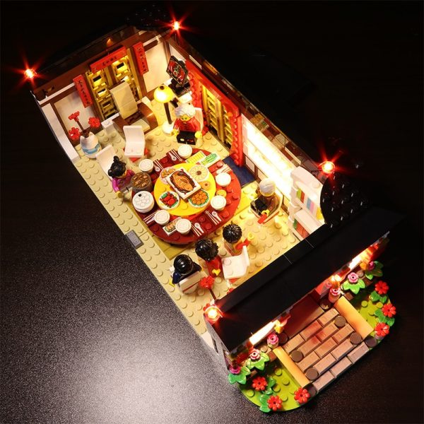 Led light for Lego80101 Chinese series2019New Year s dinner Dragon dance Model Building Kits Block Brick - Bricks Delight
