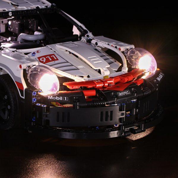 Led light for Lepin 20097 Technic Series 42096 White Super Racing Car Set Building Blocks Bricks 1 - Bricks Delight