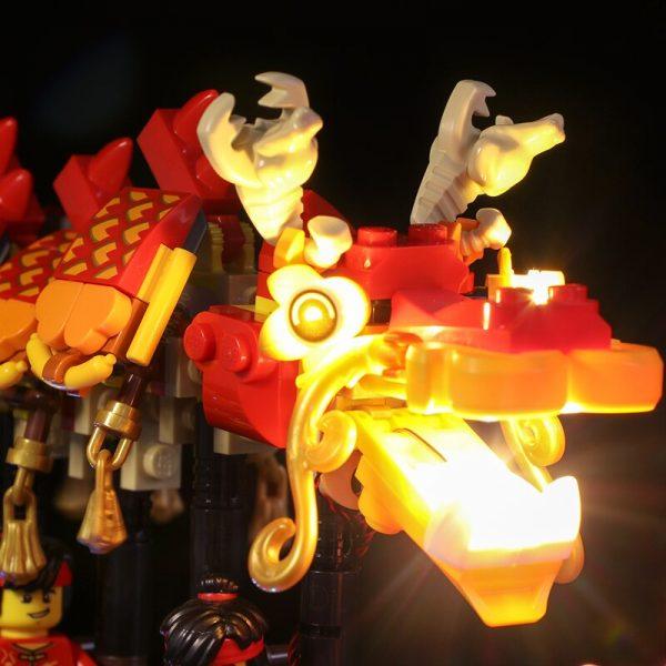 Led light for Lepin 46002Dragon Dance Compatible Lego 80102 Model Set Building Blocks Bricks Assembled DIY - Bricks Delight