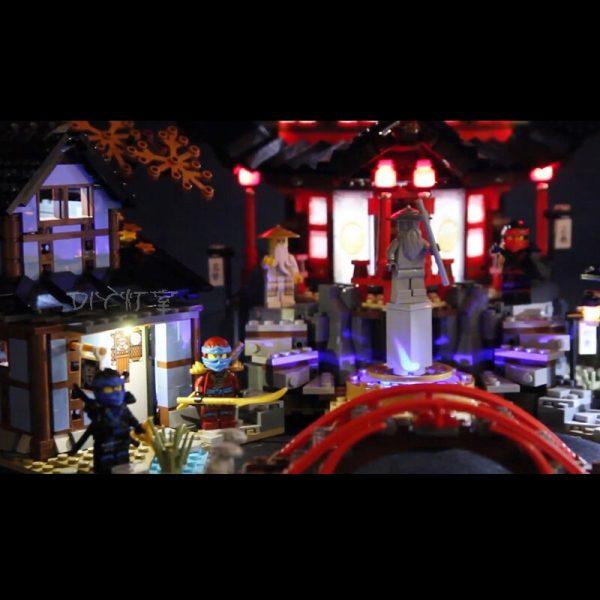 Led light for Lepin06022Ninja Temple of Airjitzu Kai Cole Building Block Compatible legoinglys70751 Bricks Toys Gifts 1 - Bricks Delight