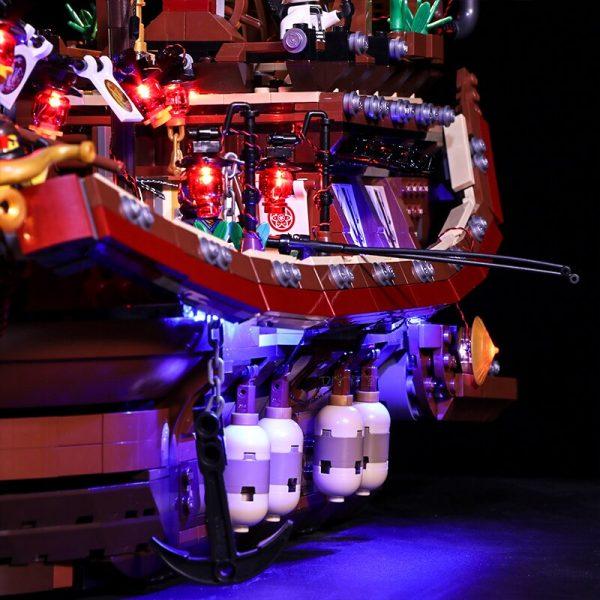 Led light for Stzhou 06057 Legoing Ninjago 70618 Destiny s Bounty Ship Movie Boat Model Building 4 - Bricks Delight