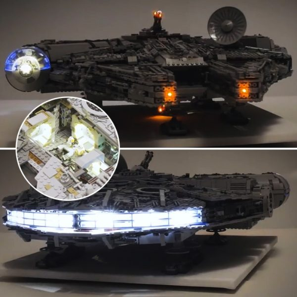 Led light kit for lego 75192 Compatible 05132 Star War Falcon Millennium Building Blocks Model Toys - Bricks Delight