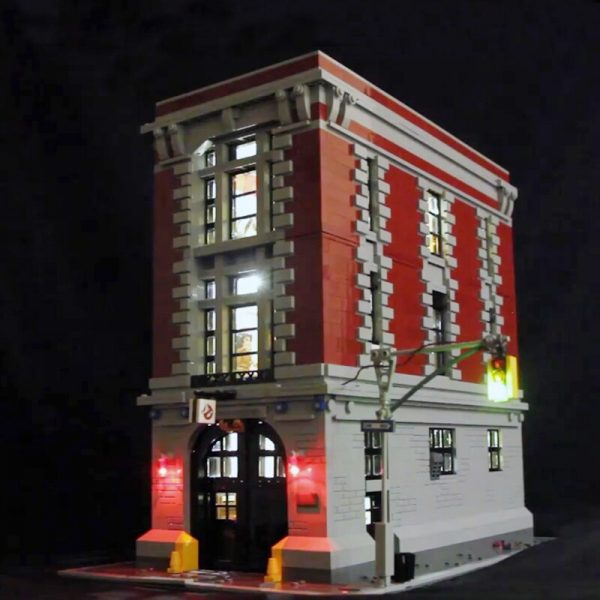 Only Led Light Set For Lego 75827 Building City Street Ghostbusters Firehouse Headquarters Compatible 16001 Blocks - Bricks Delight